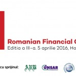 ROMANIAN FINANCIAL CONFERENCE 5 APRILIE 2016