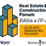 "BusinessMark: Conferinta ""Real Estate & Construction Forum"" isi deschide portile pe 22 martie in Bucuresti"