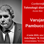 "Varujan Pambuccian va sustine la Iasi conferinta ""Tehnologii disruptive"" pe 4 iunie"